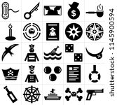 set of 25 icons such as musket  ...
