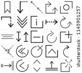 set of 25 icons such as expand  ... | Shutterstock .eps vector #1145901257