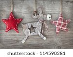 Wooden Christmas Deer And Red...