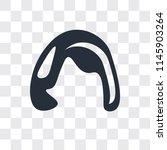 shoulder length vector icon... | Shutterstock .eps vector #1145903264