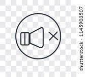 volume off speaker vector icon... | Shutterstock .eps vector #1145903507
