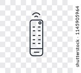 tv remote vector icon isolated... | Shutterstock .eps vector #1145905964