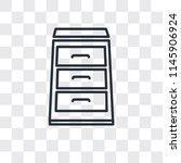 open drawer vector icon... | Shutterstock .eps vector #1145906924