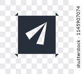 navigation arrow vector icon...