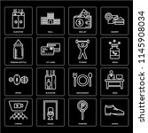 set of 16 icons such as shoes ...