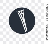 crutch vector icon isolated on...   Shutterstock .eps vector #1145908877