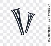 crutches couple vector icon...   Shutterstock .eps vector #1145908907