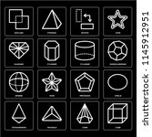set of 16 icons such as cube ... | Shutterstock .eps vector #1145912951