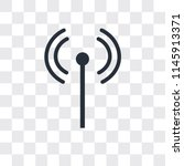 antenna vector icon isolated on ... | Shutterstock .eps vector #1145913371