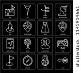 set of 16 icons such as west ...