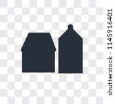 barn vector icon isolated on... | Shutterstock .eps vector #1145916401