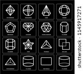 set of 16 icons such as... | Shutterstock .eps vector #1145917271