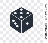 dice vector icon isolated on... | Shutterstock .eps vector #1145918291