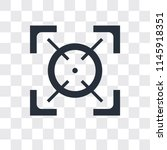focus vector icon isolated on... | Shutterstock .eps vector #1145918351