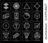 set of 16 icons such as... | Shutterstock .eps vector #1145918627