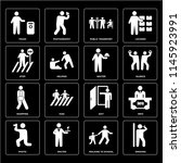 set of 16 icons such as smoking ...