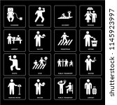 set of 16 icons such as airport ...