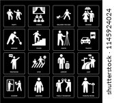 set of 16 icons such as parking ...
