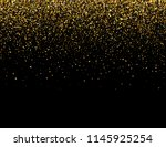 falling particles on dark... | Shutterstock .eps vector #1145925254