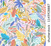 vector colorful floral seamless ... | Shutterstock .eps vector #1145928887