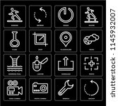 set of 16 icons such as backup  ...