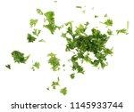 fresh green chopped parsley... | Shutterstock . vector #1145933744