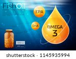 fish oil template background | Shutterstock .eps vector #1145935994