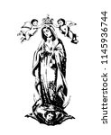 our lady of guadalupe catholic... | Shutterstock .eps vector #1145936744