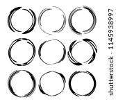 set of round grunge frames.... | Shutterstock .eps vector #1145938997