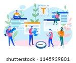 concept blogging  education ... | Shutterstock .eps vector #1145939801