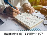 notes about seo concept | Shutterstock . vector #1145944607