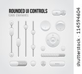 rounded light ui controls web...