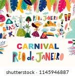 rio de janeiro brazil vector... | Shutterstock .eps vector #1145946887