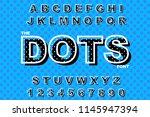 vector of modern bold font.... | Shutterstock .eps vector #1145947394