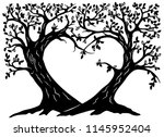 valentines wish trees... | Shutterstock .eps vector #1145952404