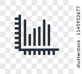 stats vector icon isolated on... | Shutterstock .eps vector #1145952677