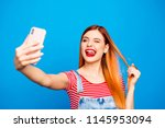 what's up instagram  close up... | Shutterstock . vector #1145953094