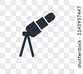 telescope vector icon isolated... | Shutterstock .eps vector #1145957447