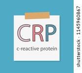 crp  c reactive protein ... | Shutterstock .eps vector #1145960867