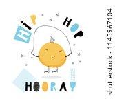 baby print  hip hop hooray.... | Shutterstock .eps vector #1145967104