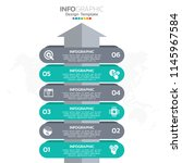 infographic design vector and ... | Shutterstock .eps vector #1145967584