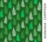 fern frond herbs  tropical... | Shutterstock .eps vector #1145974124