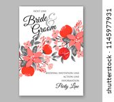 autumn floral wedding... | Shutterstock .eps vector #1145977931
