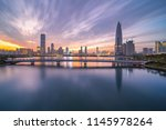 shenzhen bay houhai cbd night... | Shutterstock . vector #1145978264