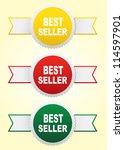 labels   bestseller. vector | Shutterstock .eps vector #114597901