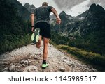 shoes of trail runner ... | Shutterstock . vector #1145989517