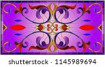 illustration in stained glass... | Shutterstock .eps vector #1145989694