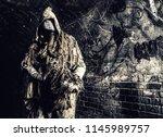 post apocalyptic survivor ...   Shutterstock . vector #1145989757