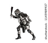 aggressive and evil humanoid...   Shutterstock . vector #1145989937