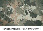 dirty military camouflage... | Shutterstock . vector #1145992994
